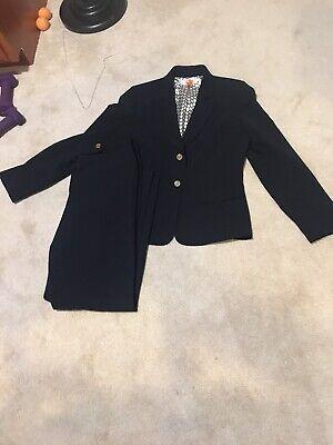 Elie Tahari Pant Suit Blazer Black Size 8