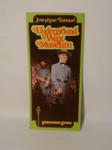 Vintage Josephine Tussad Underground Wax Museum Atlanta Georgia Travel Brochure
