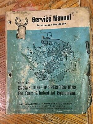 Ihc Farm Engines Tune-up Specifications Service Manual Gss-1414