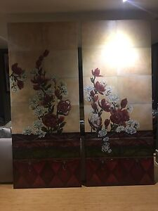 2 large vertical wall paintings Pyrmont Inner Sydney Preview