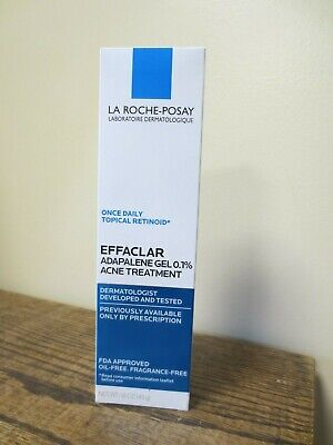 New! La Roche Posay Effaclar Adapalene Gel 0.1% Acne Treatment 1.6 oz (7553)
