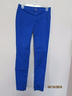 Anthropologie BirdCage Royal Blue Skinny Pants Jeggings size 26 Made in USA