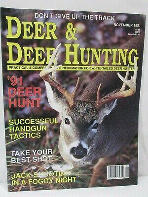 Deer & Deer Hunting Magazine November 1991 Successful Handgun Tactics Best