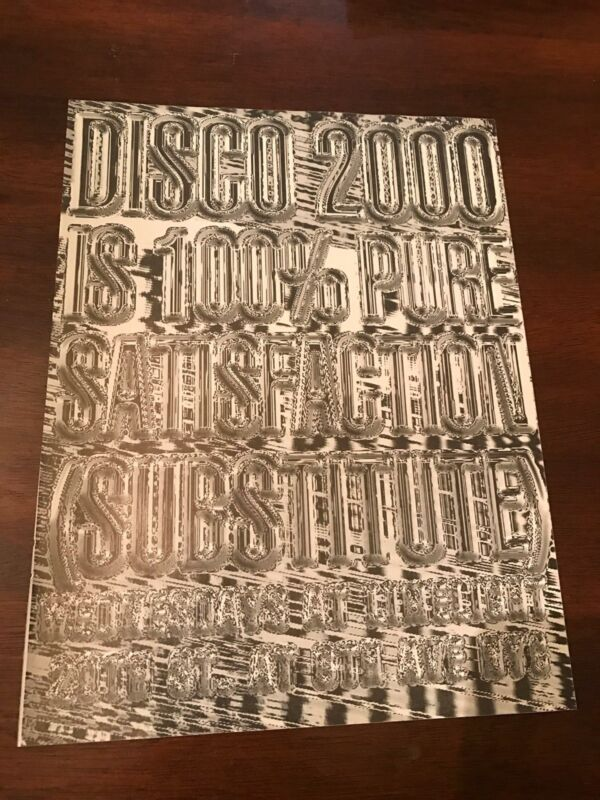 1995 VINTAGE 8X11 PRINT Ad FOR DISCO 2000&LIMELIGHT NYC CLUB 100% SATISFACTION