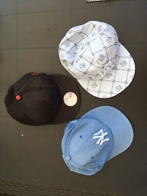 Set of 3 x Designer Baseball Caps - New Era 59Fifty & 9Fifty Snapback - S/M