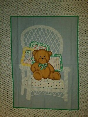 Personalized Baby Chair (PERSONALIZE - TEDDY BEAR NURSERY WICKER CHAIR HARLEQUIN COLORFUL POLKA)