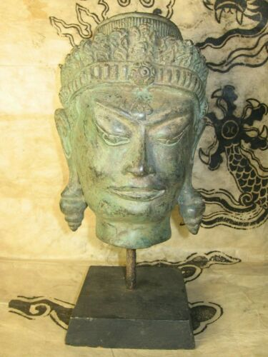 Vintage Southeast Asian Bronze Buddha Head