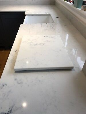 CARRARA WHITE Quartz KITCHEN WORKTOP AFFORDABLE PRICE 20 Mm