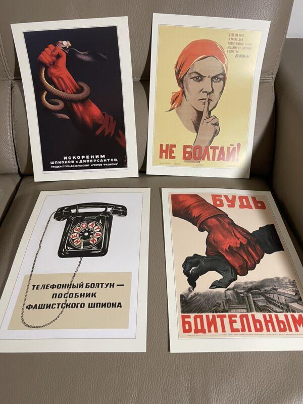 soviet propaganda poster lot of 24
