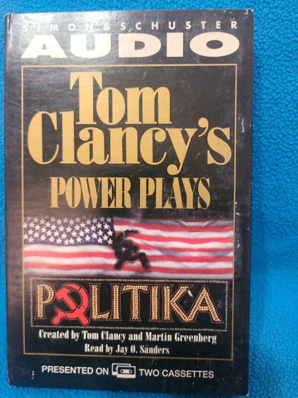 AUDIOBOOK CASSETTE POWER PLAYS, POLITIKA BY TOM CLANCY