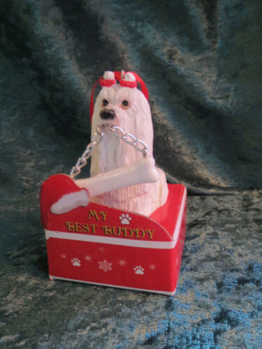 MY BEST BUDDY PERSONALIZABLE CHRISTMAS ORNAMENT MALTESE DOG HAVANESE HALLMARK