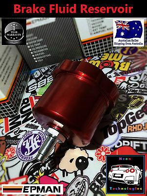 RED Brake Fluid Reservoir *Master Cylinder Clutch Pot Handbrake Remote MPS RX7*