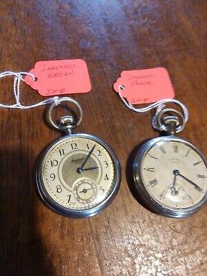 2 Running INGERSOLL Yankee & Ensign Pocket Watches