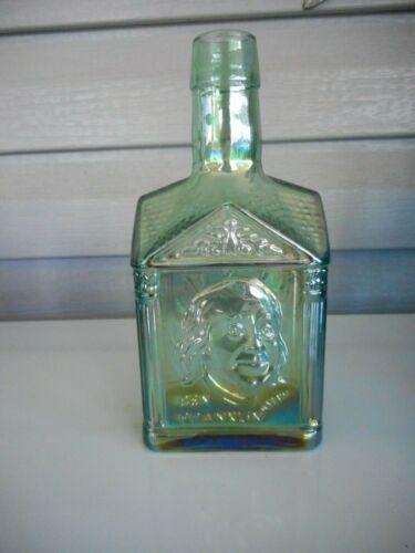 Ben Franklin green irridescent bottle perfect condition