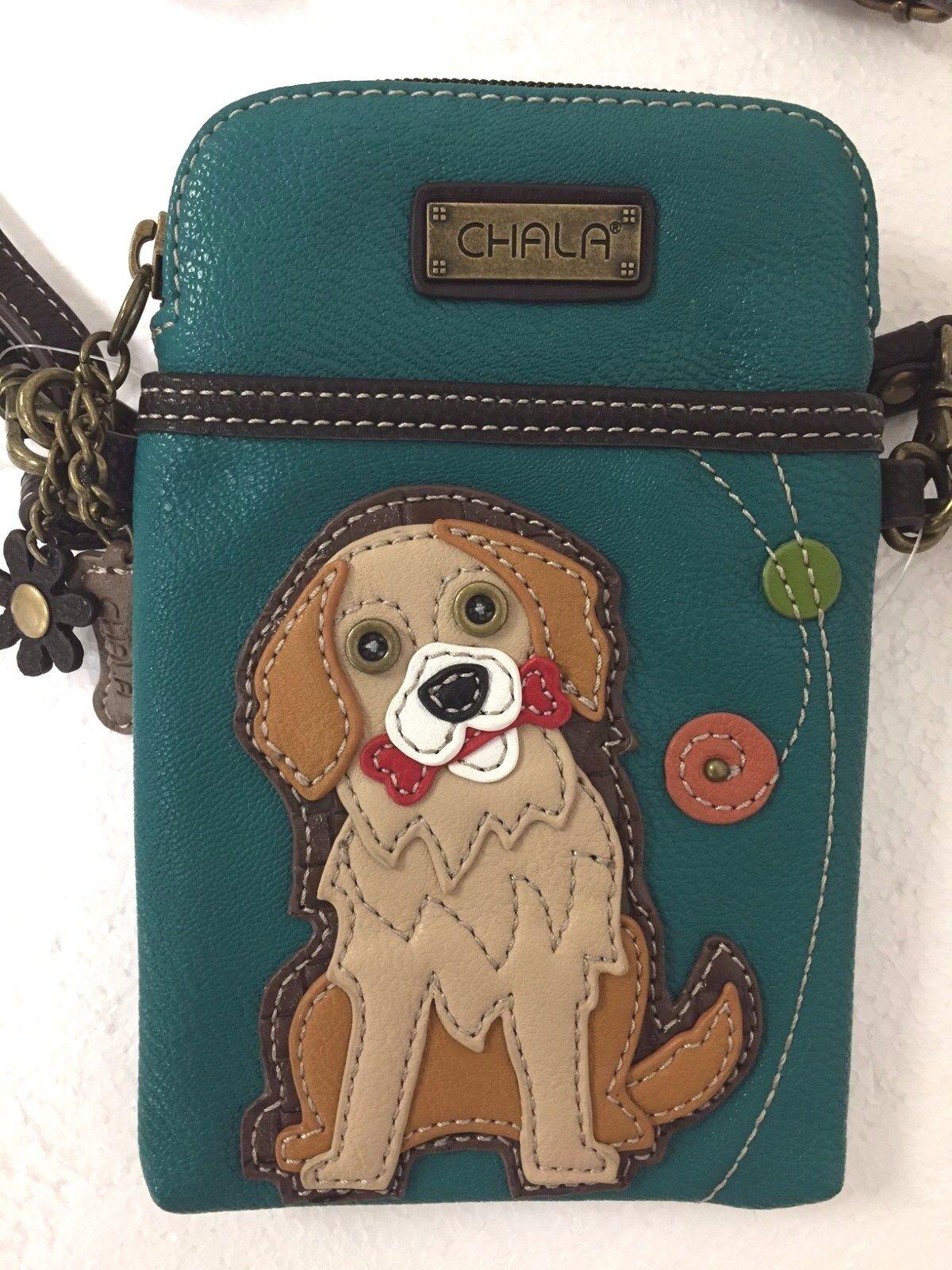 NWT CHALA GOLDEN RETRIEVER DOG CELL PHONE CROSSBODY PURSE AD