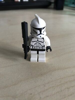 Lego Star Wars Figur - Klonkrieger + Custome Waffe (Lego Krieger Waffen)