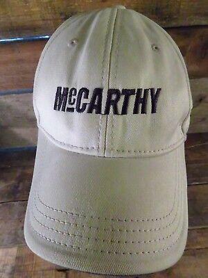- McCARTHY Construction Company Adjustable Adult Hat Cap