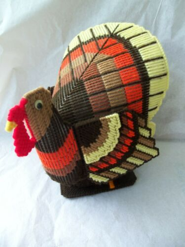 "Thanksgiving Turkey Hand Crafted Centerpiece!  LARGER!  COLORFUL!  9"" TALL!"