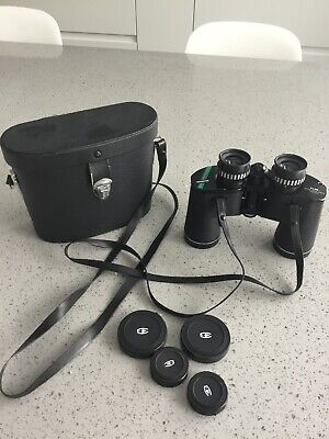 Chinon Binoculars With Lens Covers Case Strap 8x40 Extra Wide Angle Rapid Focus