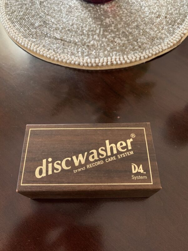 Vintage 1980s DISCWASHER Brush vinyl record box lid only