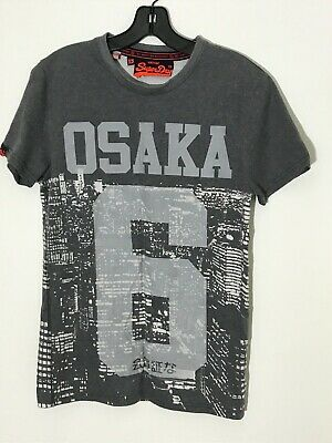 NWT SUPERDRY Osaka 6 Photographic Night Lights Grey Short Sleeve T-Shirt Size XS