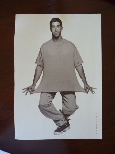 David Schwimmer Brad Pitt Double Side Coffee Table Book Photo Page 9x13