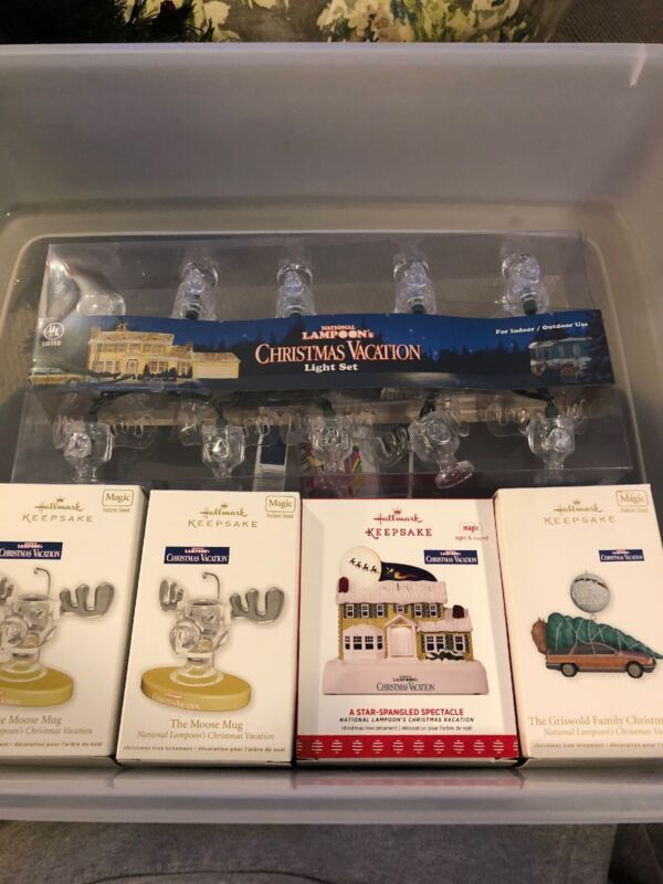 New national lampoons christmas vacation ornaments and Light Set Hallmark
