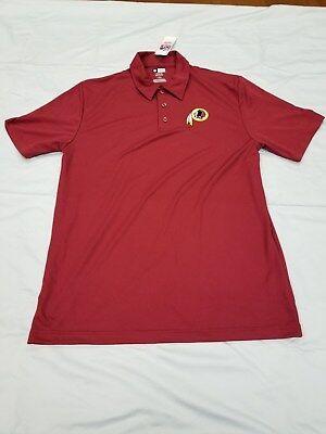 *NEW* NFL Team Apperal Washington Red Skins Golf Shirt Men's Size M TX3 Cool (Washington Red Skins)
