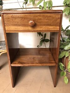 Hardwood bedside table