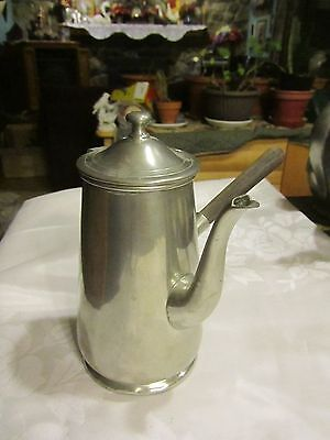 (Concord Pewter Milk Server with woodhand No. 482 - 7.5