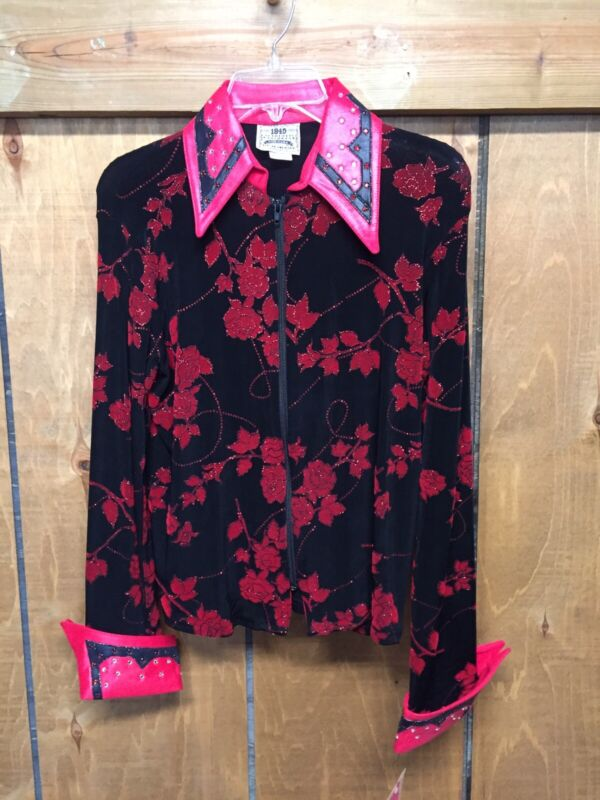 Authentic Ranchwear Red/black Show Slinky Jacket, Size Lg.
