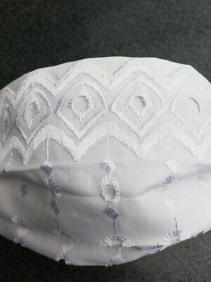 SPITZE**Stickerei**Filtertaschen Mund-Nasenschutz Mundschutz Maske weiß Hochzeit