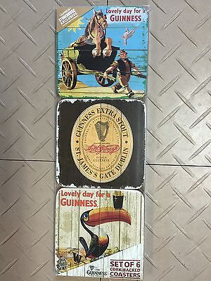 Guinness Beer Coasters Cork Backed From St  James Gate