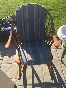 Maple rocking chair with cushions