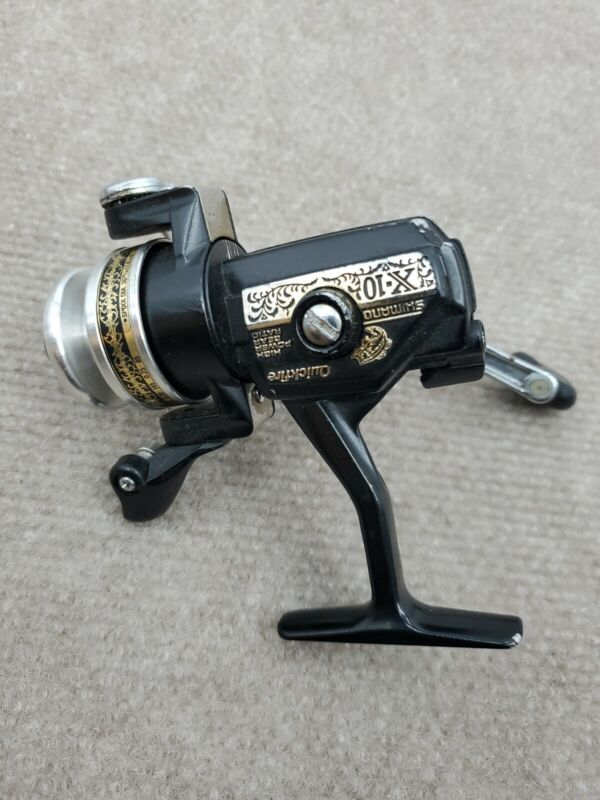 """Shimano X-10 """"Quick-Fire"""" Fishing Spinning Reel - Made in Japan - Works Good"""