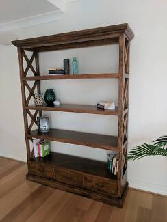 Hardwood bookshelf / bookcase / shelving unit - 9 months old