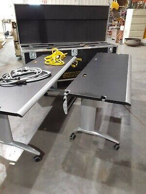 2 Office Trade Show Technology Tables With Shipping Container