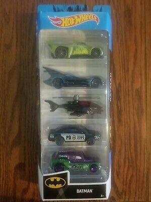 Hot Wheels Mattel Highly Collectible 5 pack Batman diecast 2019 Scale 1/64 NEW