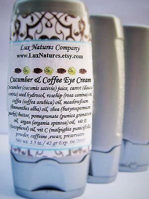 COFFEE OIL CUCUMBER JUICE EYE CREAM ANTI AGING PUFFY EYES 1.5 OZ FREE SHIPPING