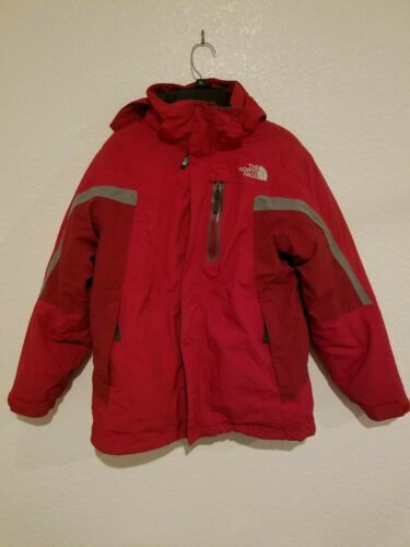 The North Face Red Hooded Winter Jacket T182 + T582 Boys Large 14/16