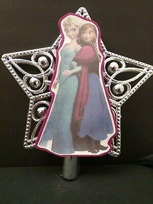 Disney Princess inspired Frozen Anna & Elsa Christmas Tree Topper Ornament #2