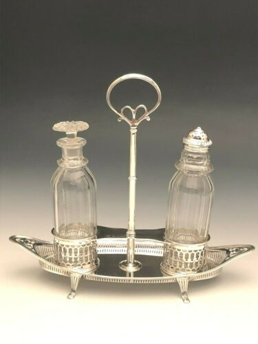 Vintage Sterling Silver 2 Piece Cruet Set, London, England early 20th century