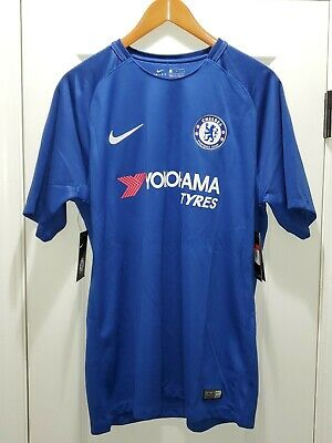 2017-18 CHELSEA HOME NIKE STADIUM FOOTBALL SHIRT SOCCER JERSEY MENS LARGE $90  image