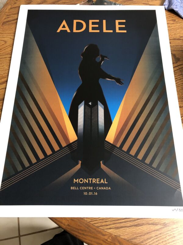 Adele Concert Poster From Montreal Limited Edition Numbered Lithograph
