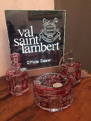 VAL ST LAMBERT - garniture de toilette Gloria - design Charles Graffart - 1947