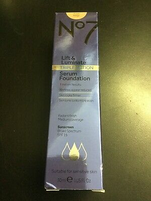 No7 Lift & Luminate Triple Action Serum Foundation SPF 15 Warm Beige-1oz #6024
