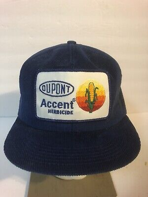 Vintage Dupont Herbicide Patch Hat Snapback K Products Brand USA Cap Corduroy