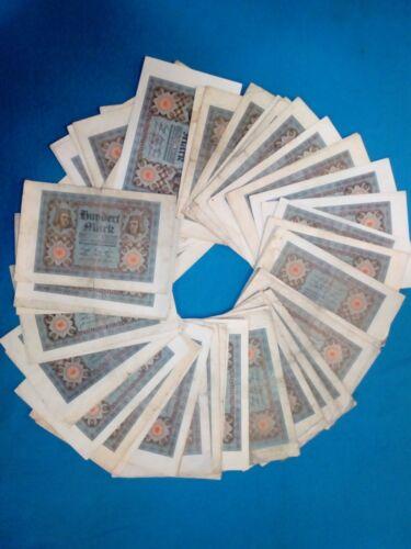 50 x 100 mark Germany 1920 lot lot