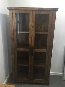 INDUSTRIAL LOOK 2 DOOR DISPLAY CABINET FOR SALE Connells Point Kogarah Area Preview