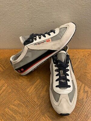 Diesel Unforgettable Casual Athletic Sneakers Gray Black Red  Men's Size -